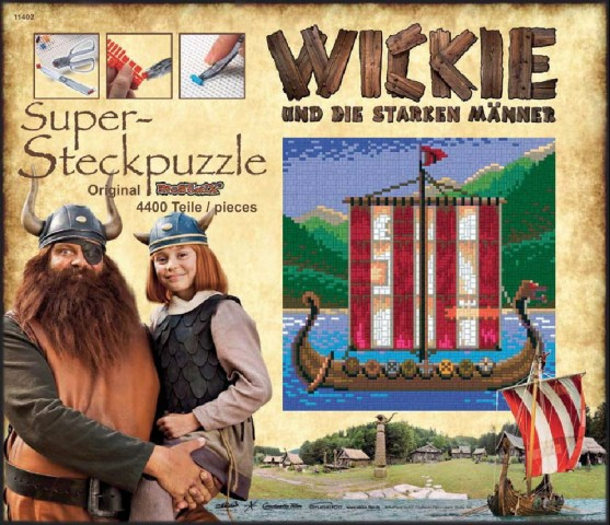 Wickie Steckbild -Wikinger-Schiff-