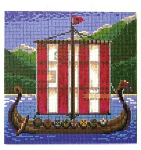 wickie steckbild wikinger schiff 11402 cartronic shop. Black Bedroom Furniture Sets. Home Design Ideas