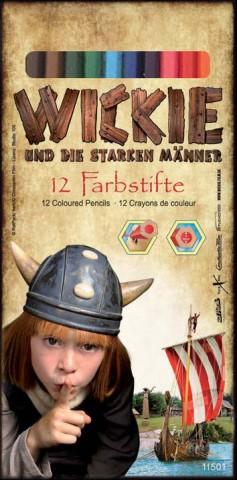 Wickie Farbstifte in Kartonbox