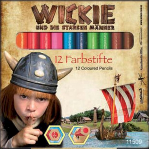 Wickie Farbstifte (kurz)  -  5-er Pack Aktionspreis