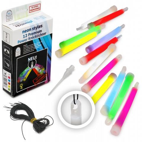 Premium Power 15 cm Knicklichter 6 Farben