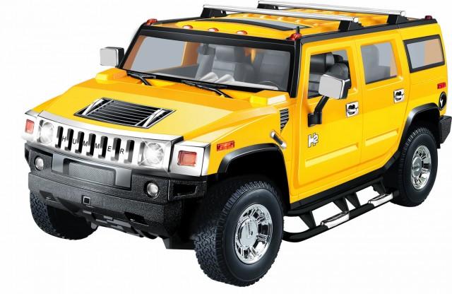 2.4 GHZ  - RC Hummer H2 M1:24, gelb