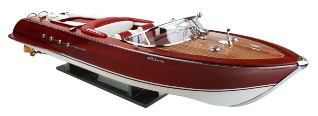 Riva Aquarama  Sitze rot-weiß  89 cm
