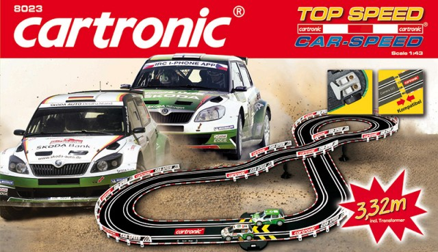 "Cartronic Car-Speed ""Top Speed"" 3,32m mit Rallye-Fahrzeugen"