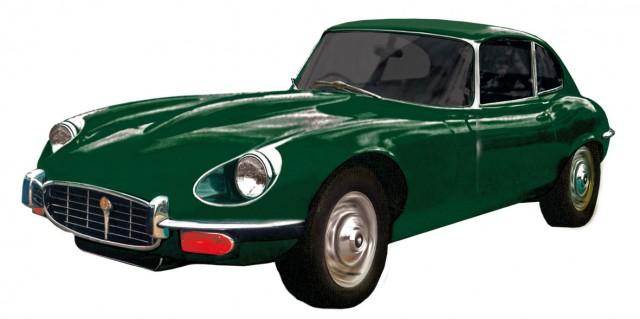 Jaguar E-Type, Bj. 1963, britisch-grün
