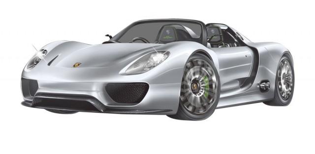 2.4 GHZ  - RC Porsche 918 Spyder    M 1:24, silber-anthrazit